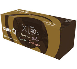 Delta Q XL pack: 40 capsules, 4 different DeltaQ coffees