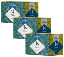 Pack Thé noir citron en sachet- Maison Taillefer - 3 boîtes de 20 sachets