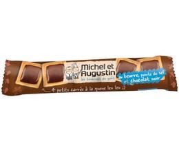 4 petits carrés Chocolat noir / Pointe de sel - Michel et Augustin