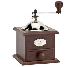 Peugeot Nostalgie manual coffee grinder - Walnut-stained beechwood