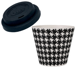 QuyCup 'Pied-de-Poule' eco-friendly espresso cup with lid - 90ml