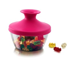 Vacu Vin 'PopSome' airtight food container in pink - 140g capacity
