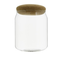 Viva Scandinavia glass container with cork lid - 180g capacity