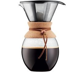 Cafetière filtre Bodum Pour Over liège et cuir - 12 tasses