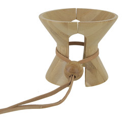 Brewista bamboo collar for 8-cup Hourglass brewer
