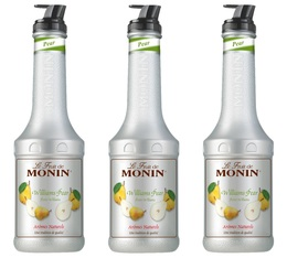 Lot de 3 Purées de Fruit Monin - Poire Williams - 1 L