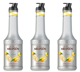 Lot de 3 Purées de Fruit de Monin - Yuzu - 3 x 1L