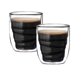 Set 2 verres Elements Bois double paroi 7.5cl - QDO