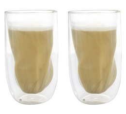 2 'Elements Earth' double wall glasses - 38cl - QDO