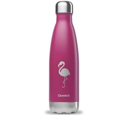 Bouteille Isotherme Inox 50cl - Collection Summer Vibes - (impression 3D, relief au toucher) - Flamingo - Qwetch