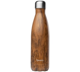 Bouteille isotherme inox imitation bois 50 cl - Wood Qwetch