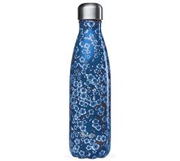 QWETCH insulated bottle Blue Flowers - 500ml