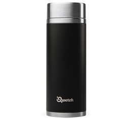 Théière isotherme nomade inox noir 300 ml + 2 infuseurs - Qwetch