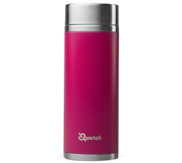 Théière isotherme nomade inox magenta rose 300 ml + 2 infuseurs - Qwetch