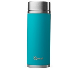 Théière isotherme nomade inox turquoise 300 ml + 2 infuseurs - Qwetch