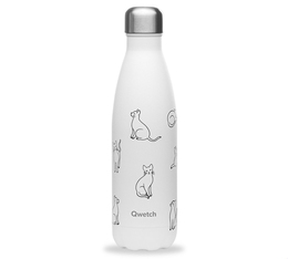 Bouteille Isotherme Inox Pretty Cats - 50cl  - Qwetch