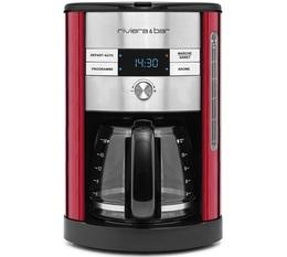 Cafetière filtre Riviera et Bar CF547A programmable rouge + offre cadeaux