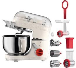 Kit Robot de cuisine Bodum Bistro 11381-913 Blanc + hachoir + râpeuse