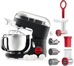Kit Robot de cuisine Bodum Bistro 11381-01 Noir + hachoir + râpeuse