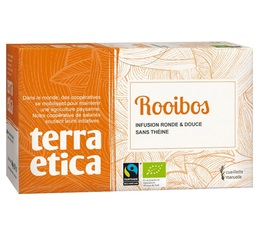 Organic South African Rooibos - 20 individually-wrapped tea bags - Terra Etica