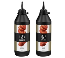 Lot de 2 Sauces Topping 1883 Routin - Fraise - 2 x 500 ml