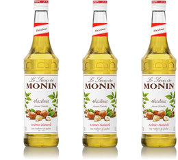 Lot de 3 Sirops Monin - Noisette - 3 x 70cl