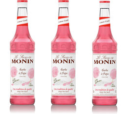 Lot de 3 Sirops Monin - Barbe à Papa - 3 x 70 cl