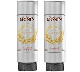 Lot de 2 Sauces Topping Monin - Chocolat blanc - 2 x 500 ml