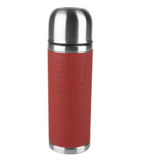 Bouteille isotherme SENATOR Emsa Inox / Silicone rouge - 0,5L