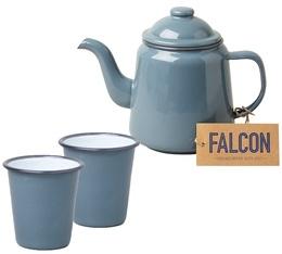 Service à thé théière + 2 tasses gris pigeon - Falcon