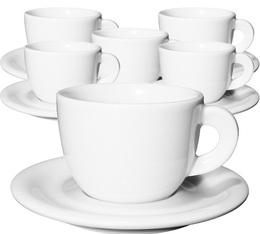 6 tasses cappuccino et sous-tasses 19 cl porcelaine Edex - Ancap