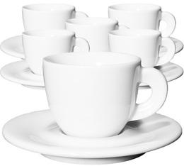 6 tasses Espresso et sous-tasses 6 cl porcelaine Edex - Ancap