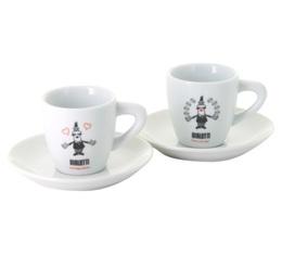 Set 2 tasses et sous-tasses en Porcelaine Omino 9cl - Bialetti