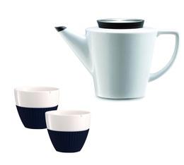 Set Théière 1L et tasses 25cl en porcelaine et silicone - VIVA Scandinavia