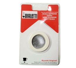 Set Bialetti 3 joints + 1 filtre pour cafetière ALU 2 tasses