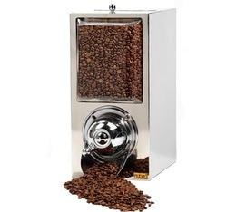 Silo à café rectangulaire professionnel KBN40 en inox et chrome - 5 kg - Kuban Coffee