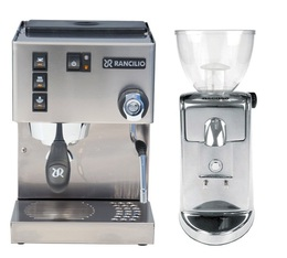 Machine expresso Rancilio Silvia V5-E 2018 + Moulin Ascaso I MINI I2