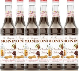 6 x Sirop Monin - chocolate cookie - 70cl