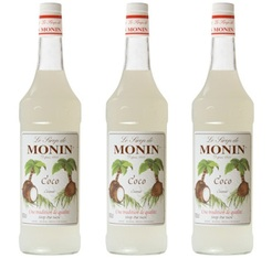 Lot de 3 Sirops Monin - Coco - 3 x 1 L