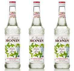 Lot de 3 Sirops Monin - Mojito Mint - 3 x 70 cl
