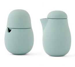 Nina cream jug and sugar bowl in stone mint - Viva Scandinavia