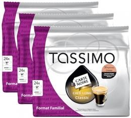 Lot de 72 Dosettes Tassimo Carte Noire Café Long Classic - 3 x 24 T-Discs