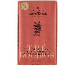 Tablette chocolat blanc au Rooibos Vanille - 85gr - Café Tasse