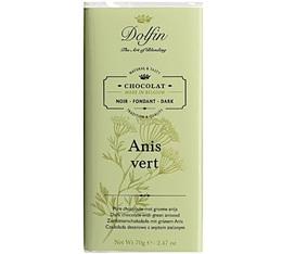 Chocolat noir 60% à l'anis vert - 70g - Dolfin