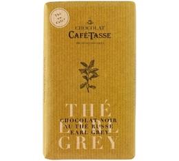 Tablette chocolat noir au thé Earl Grey - 85g - Café Tasse