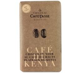 Tablette chocolat noir au café du Kenya - 85g - Café Tasse