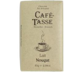 Tablette chocolat au lait et nougat - 85gr - Café Tasse