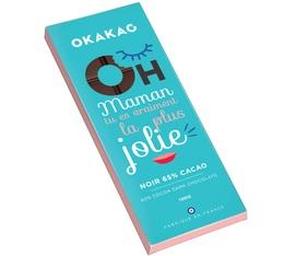 Tablette chocolat noir 65% cacao Fête des Mères - 100g - Okakao