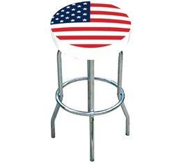 Tabouret bar blanc drapeau USA new
