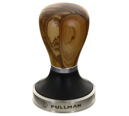 Tamper Pullman 58,55mm base Big Step manche en bois d'olivier